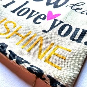 Decorative Song Quote Cushion Cover Home Decor